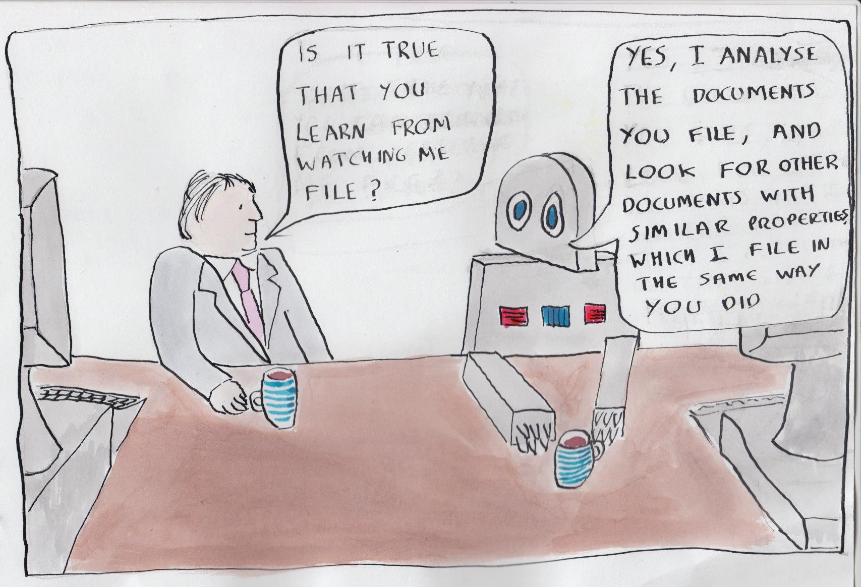 machine learning cartoons